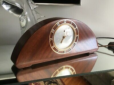 Vintage Telechron GE General Electric Clock, Wood, Gracewood Model 4F05 Restored