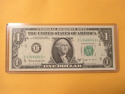 1963*-B $1 Federal Reserve Note (Barr Note & Star Note)