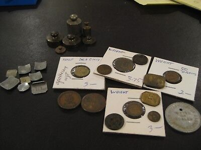 Antique Scale Weights   LOT  KF-22