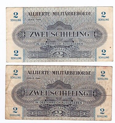 Military Currency, Austria, 2 Schillings