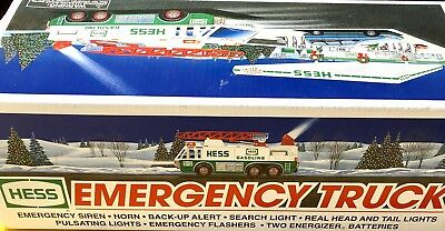 Hess Emergency Truck With Ladder In Original Box