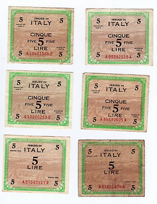 Military Currency, Italy, 5 Lire