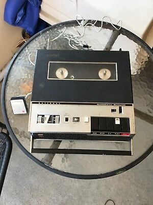 Vintage National RQ-158S Automatic Reverse Portable Reel To Reel Tape Recorder