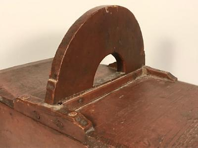 Very Rare 18th C. Painted Double Lidded Wooden Amish Carrying Box, C. 1780, NR