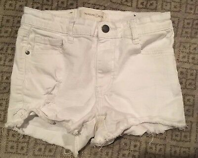 Treasure & Bond Girls Size 14 Girls White Shorts