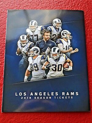 RAMS 2018 COMPLETE SEASON TICKET HOLDER BOOK STH Stubs Donald Gurley Los Angeles
