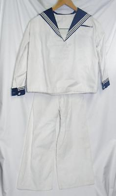 Antique Vintage 1900s Childrens Sailor Outfit Top Long Pants 4th of July USA