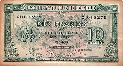 Currency Selection, Belgium, 10 Francs