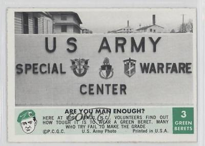 1966 Philadelphia Men of the Green Berets #3 Are You Man Enough? Card 9gm