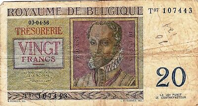 Currency Selection, Belgium, 20 Francs