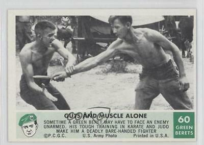 1966 Philadelphia Men of the Green Berets #60 Guts and Muscle Alone Card 9gm