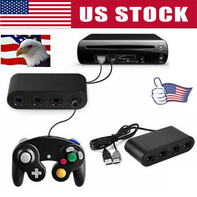 GameCube Controller Adapter 4port for Nintendo Switch Wii- U&PC USB NEW1 TURBO-