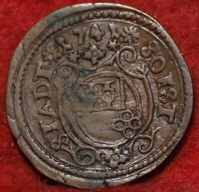 1741 German States 3 Pfennig Foreign Coin