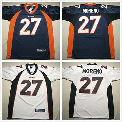 fa0a96640 Men s Denver Broncos  27 Knowshon Moreno Navy White Jersey ALL Stitched