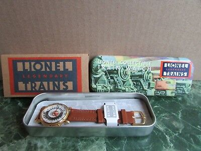 Lionel Watch - Rotating Train in Dial - New in Original Tin Case