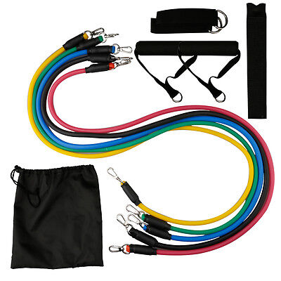 11Pcs/Set Resistance Bands Latex Expander Tube Chest Yoga Gym Workout Exercise