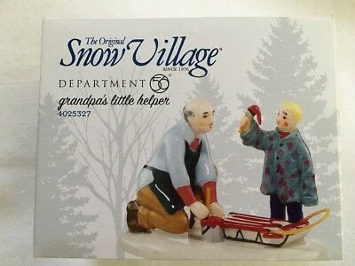 "Dept 56 Snow Village ""Grandpa's Little Helper"""