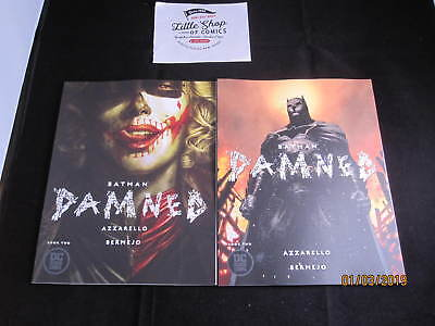 BATMAN DAMNED #2 NM 1st prints COVER A & B DC BLACK LABEL UNCENSORED Comics