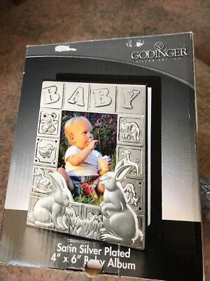 Godinger Silver Plated Baby Photo Album For Bunny Rabbit Theme 4 In