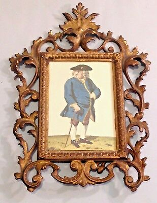 Antique Cast Iron Victorian Easel Back Picture Frame