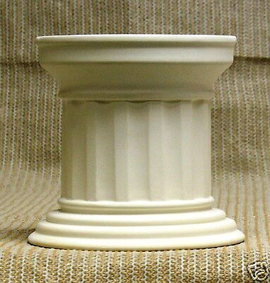 Ceramic Bisque Column Base 6 Inch High Arnels 1366 U-Paint Ready To Paint