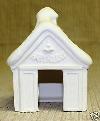Ceramic Bisque House Reindeer Barn Scioto Mold 890 U-Paint Ready To Paint