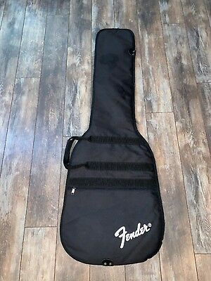 59295e6fbb Fender Bass Guitar Bag Carry Case Soft Padded Backpack Black Zip Up 43 x 16  GUC