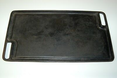 "Vintage Cast Iron Reversable Griddle 10"" x 18"""