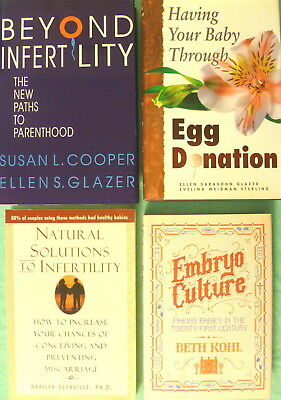 LOT OF 5 BOOKS on INFERTILITY Natural Solutions Paths to Parenthood Egg Donation