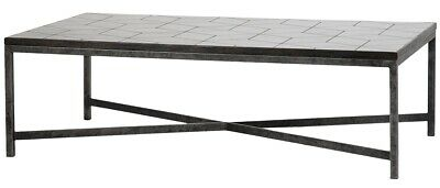 "52"" L One of a Kind Alice Coffee Table Iron Framework Ceramic Tile Top"
