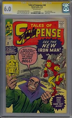 SIGNED STAN LEE TALES OF SUSPENSE 48 CGC 6.0 -1st APP NEW RED & GOLD ARMOR 1963
