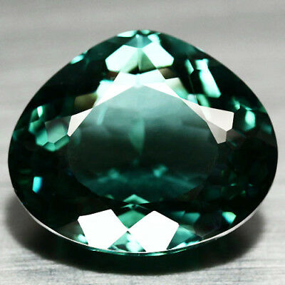 27.02 Ct Aaa! Green African Quartz Pear