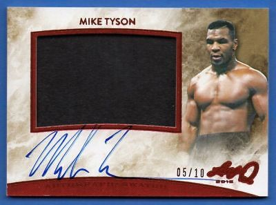 Mike Tyson 2015 Leaf Q Autograph 05/10 Training Worn Trunks Swatch Signed Rare