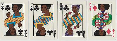 "Rare MINT  1973  BLACK AMERICANA  ""SOUL""  Afro American  ARTWORK  Playing Cards"