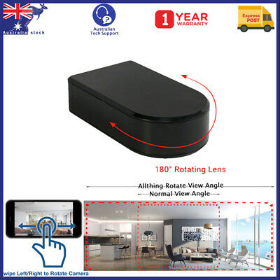 1080P HD WiFi Black Box Spy Security Home Hidden Camera with 180° Rotating Lens