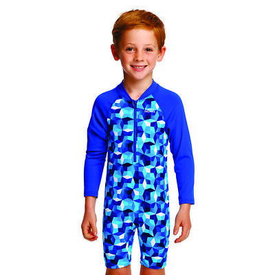 Funky Trunks Toddler Boy's Ice Fortress Go Jump Suit Swimwear,chlorine Resistant