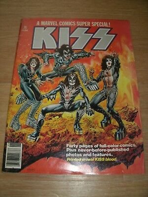 KISS: A MARVEL COMICS SUPER SPECIAL #1.Printed in real KISS blood (1977)