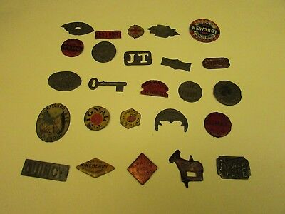 ANTIQUE TOBACCO TAGS LOT OF 25 ALL DIFFERENT 1800'S 1900'S Some Rare SEE OTHERS