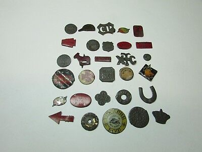 ANTIQUE TOBACCO TAGS LOT OF 30 ALL DIFFERENT 1800'S 1900'S Some Rare SEE OTHERS
