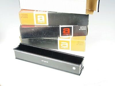 4 Argus Slide Trays Spill Proof 80 Capacity - Early 1970's