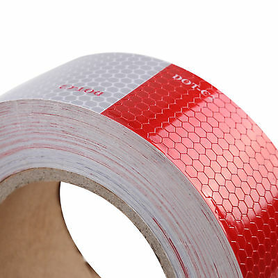 """DOT-C2 2""""x150' Conspicuity Tape Reflective Approved Trailer Red White -1 Roll"""