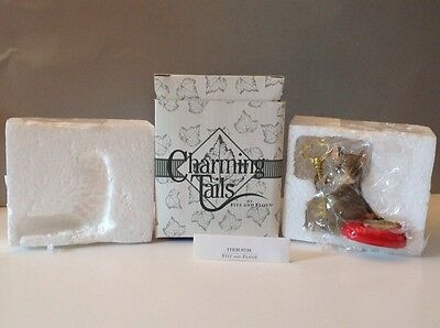 """NIB-Fitz & Floyd Charming Tails """"You Hold The Key To My Heart"""" Dean Griff Mouse"""