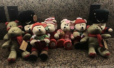 Lot of 9 Starbucks Bearista Bears