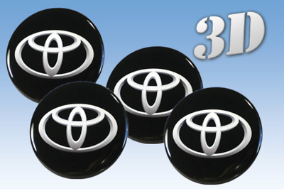 Wheel stickers Toyota all size Centre Cap Logo Badge Wheel Trims 3d 58mm