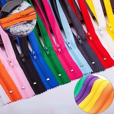 Lots Colors Resin Nylon Zipper For Sweater Jacket Handbags DIY Tailor Sew Craft-