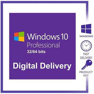 Windows 10 Professional Pro Key 32 / 64 Bit Activation Code License Product Key