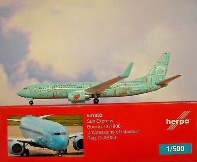 Herpa Wings 1:500 Boeing 737-800 Sun Express D-ASXO  531832  Modellairport500