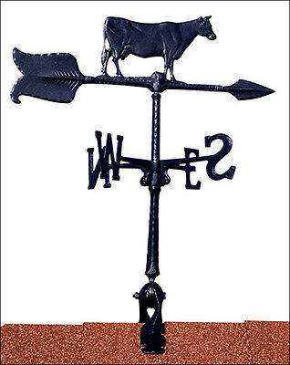 "Whitehall 24"" Cow Weathervane Black with Rooftop Mount Ships FAST!"
