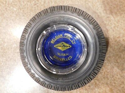 1930s GOODYEAR 196155 Super Cushion Luxembourg Belgian Tire CY. Promo ASHTRAY