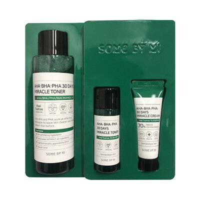 [SOME BY MI] AHA. BHA. PHA 30Days Miracle Toner Special Set 1Pack (3items) (AU)